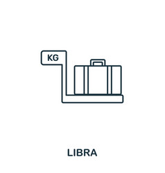 libra icon outline thin line style from airport vector image