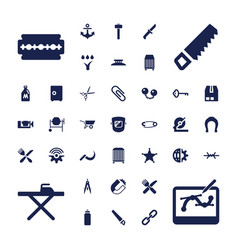Metal icons vector