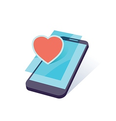 Mobile heart vector