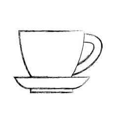 mug and dish vector image