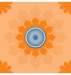 Ornate mandala round pattern on open flower vector