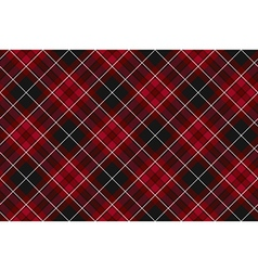 Pride of wales fabric diagonal textures red tartan vector
