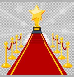 Red carpet award vector