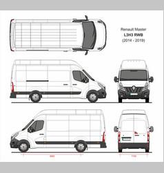 Renault master cargo van l3h3 rwd 2014-2019 vector