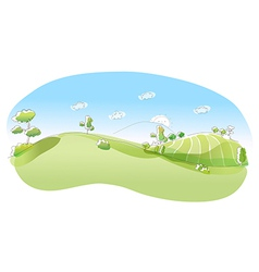 Rolling landscape vector image