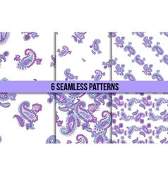 Seamless paisley pattern set vector image