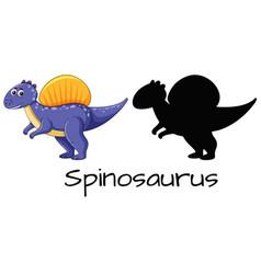 Set of spinosaurus design vector
