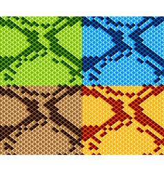 snake skin seamless wallpaper vector image