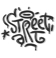 Street art related tag graffiti influenced label vector
