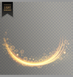 stylish decorative golden light effect with vector image vector image