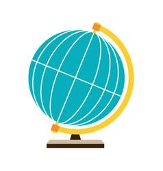 stylized globe vector image