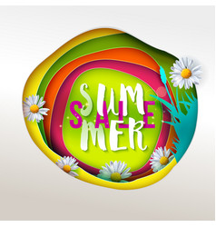 Summer sale paper art vector