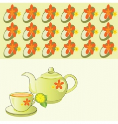 teapot background vector image