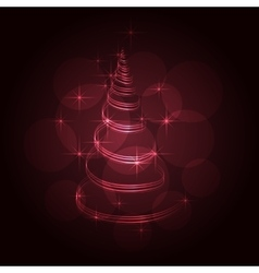 The Magic Christmas Tree vector