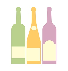 Three bottle of wine vector