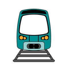 train flat vector image