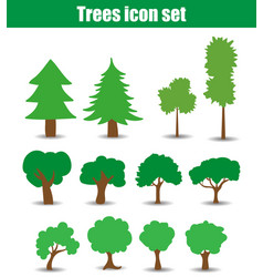 trees icons flat vector image