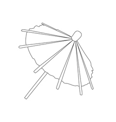 umbrella on white background vector image