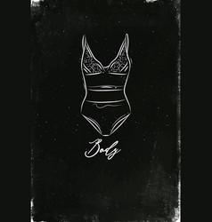 underwear fashion body chalk vector image