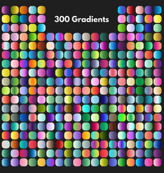 Vibrant modern gradient swatches set vector