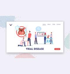 viral disease rabies landing page template vector image