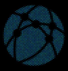 web browser collage icon of halftone spheres vector image