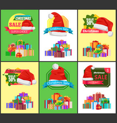 Winter holiday sale with half price reduction vector