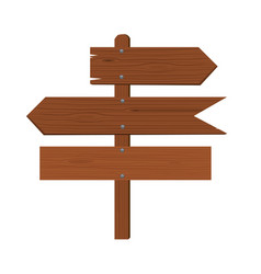 wooden plates arrows and an index of direction vector image
