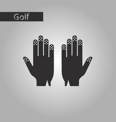 black and white style icon golf gloves vector image vector image