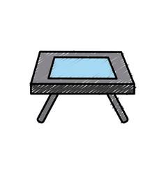 desk dinning room vector image