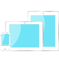 mobile smart phone and digital tablet pc set with vector image