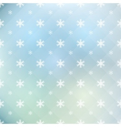 pattern of snowflakes vector image vector image