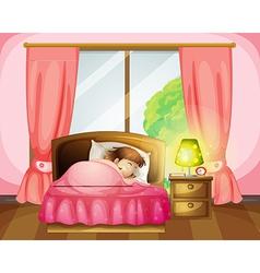Sleeping firl vector image vector image