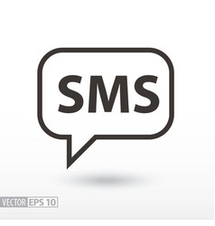 sms flat icon sign sms message vector image vector image