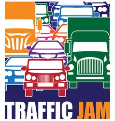 traffic jam vector image vector image