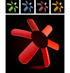 abstract symbol vector image vector image