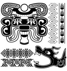 ancient american patterns vector image vector image