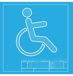 Disabled sign White section of icon vector image