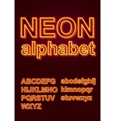 Glowing Neon Alphabet for Poster or booklet vector image