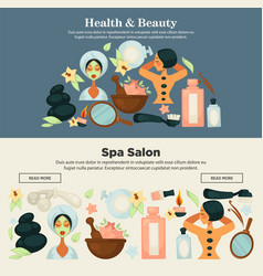 health and beauty prosedures at spa salon promo vector image