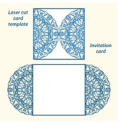 Lazercut wedding invitation template vector image vector image