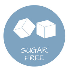sugar free label food intolerance symbols vector image