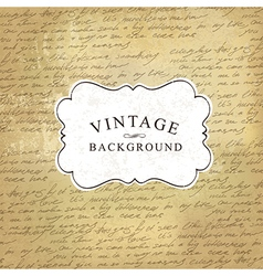 vintage background with script pattern vector image vector image