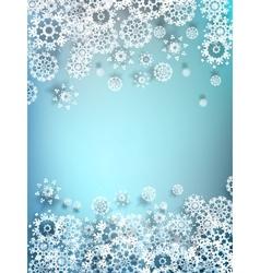 Decorative paper snowflake background EPS 10 vector image