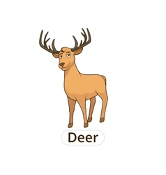 Forest animal deer cartoon for children vector image vector image