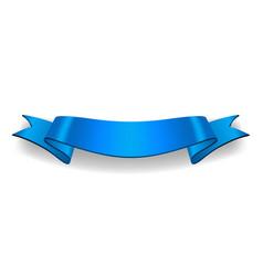ribbon banner satin blank vector image vector image