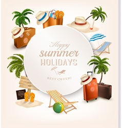 Set of vacation related icons vector image vector image