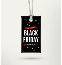 Black friday sale tag label vector image
