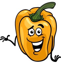 cute yellow pepper cartoon vector image vector image