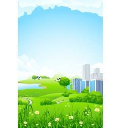 landscape city vector image